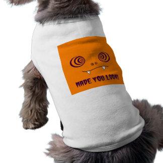 -オレンジ犬のワイシャツを見させます ペット服