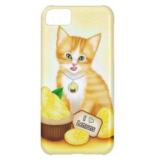 オレンジ猫のカップケーキレモンiPhone 5の箱 iPhone5Cケース