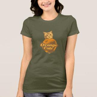 オレンジ猫のワイシャツ Tシャツ