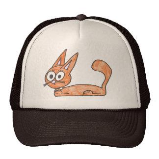 オレンジ猫の帽子 トラッカーキャップ