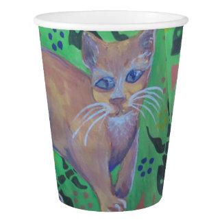 オレンジ猫の紙コップ 紙コップ