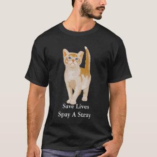 オレンジ猫、保存の生命は空電を卵巣摘出します Tシャツ