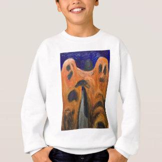 オレンジ男子学生の社交クラブ(ゆがみの表現主義) スウェットシャツ