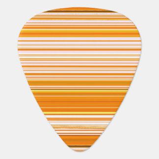 オレンジ白く黄色いピンクのストライプパターン ギターピック