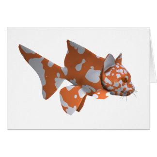 オレンジ白の斑点を付けられたナマズ グリーティングカード