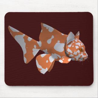 オレンジ白の斑点を付けられたナマズ マウスパッド