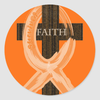 オレンジ白血病の生存者の信頼の十字 ラウンドシール