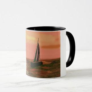オレンジ空の航海 マグカップ