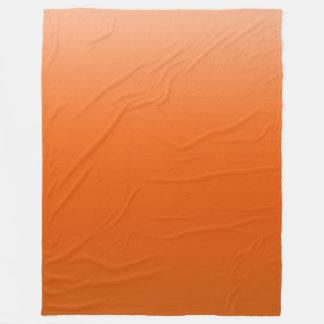 オレンジ空 フリースブランケット