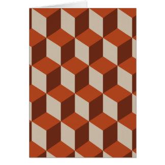 オレンジ立方体 カード