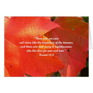 オレンジ紅葉のカスタムな牧師の感謝カード カード