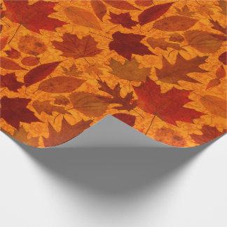 オレンジ紅葉 ラッピングペーパー