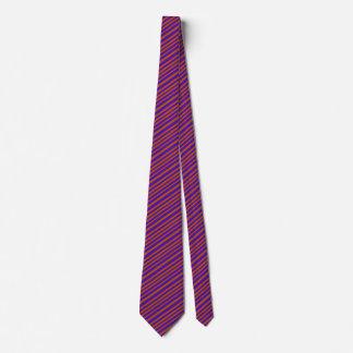 オレンジ紫色のはっきりしたなデザイナーファッションの上品は縞で飾ります オリジナルネクタイ