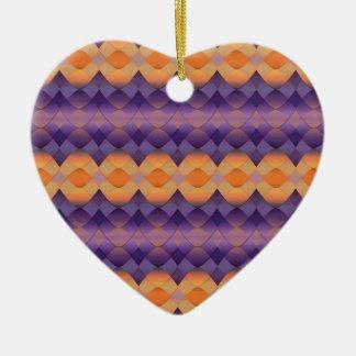 オレンジ紫色の抽象芸術のステンドグラス セラミックオーナメント