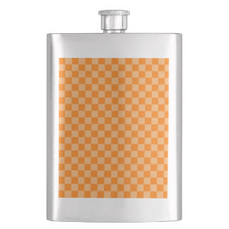 オレンジ組合せの古典のチェッカーボード フラスク