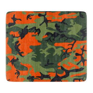 オレンジ緑のカムフラージュ カッティングボード
