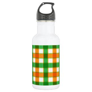 オレンジ緑のギンガム ウォーターボトル