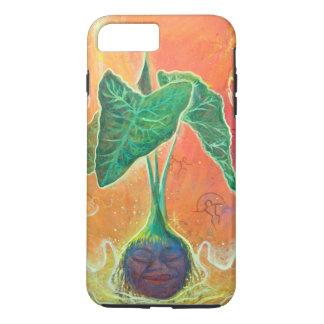 オレンジ背景の母タロイモ iPhone 8 PLUS/7 PLUSケース