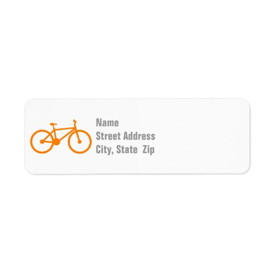 オレンジ自転車 返信用宛名ラベル