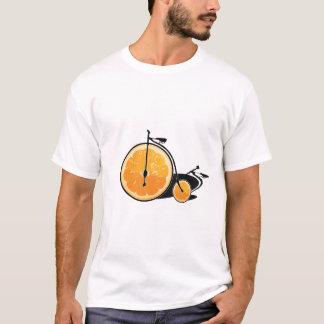 オレンジ自転車 Tシャツ