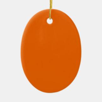 オレンジ色の楕円形 セラミックオーナメント