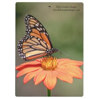オレンジ花のマダラチョウ クリップボード