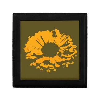オレンジ花の抽象芸術 ギフトボックス