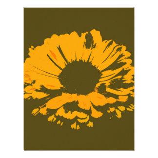 オレンジ花の抽象芸術 レターヘッド