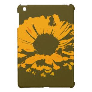 オレンジ花の抽象芸術 iPad MINIケース