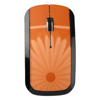 オレンジ花の無線マウス ワイヤレスマウス