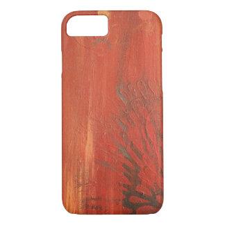 オレンジ花の色彩の鮮やかな質のiPhone 7 iPhone 8/7ケース