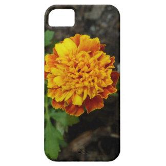 オレンジ花のiPhoneカバー iPhone SE/5/5s ケース