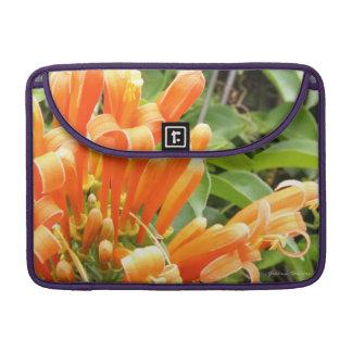 オレンジ花のMacbookのプロ袖 MacBook Proスリーブ