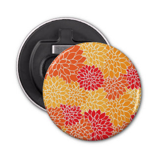 オレンジ花模様 栓抜き