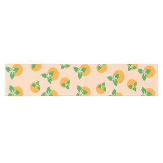 オレンジ花 ショートテーブルランナー