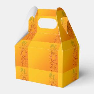 オレンジ花 フェイバーボックス