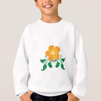 オレンジ花: ベクトルスケッチ: スウェットシャツ