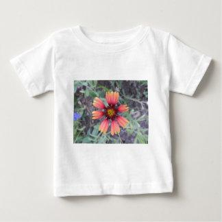 オレンジ花 ベビーTシャツ