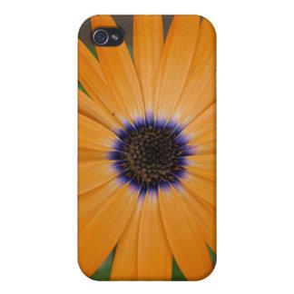 オレンジ花 iPhone 4/4S ケース