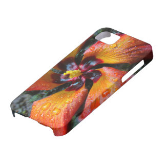 オレンジ花 iPhone SE/5/5s ケース