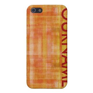 オレンジ芸術はパターン一流の箱を着色します iPhone 5 CASE