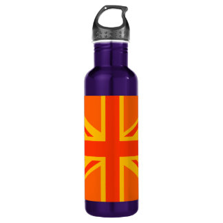 オレンジ英国国旗のイギリスの旗のスワッグ ウォーターボトル