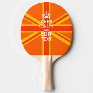 オレンジ英国国旗のイギリスの旗のスワッグ 卓球ラケット