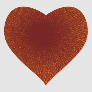 オレンジ茶色のライム ハートシール