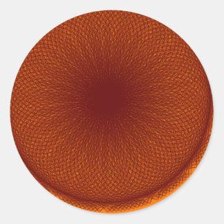 オレンジ茶色のライム ラウンドシール