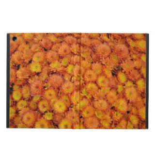 オレンジ菊のプリントのipadの箱