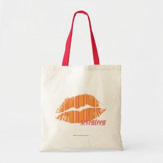 オレンジ薄いストライプ トートバッグ