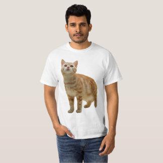 オレンジ虎猫の子ネコのワイシャツ Tシャツ