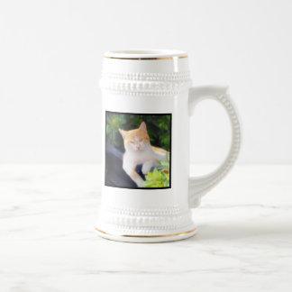 オレンジ虎猫猫のマグ ビールジョッキ