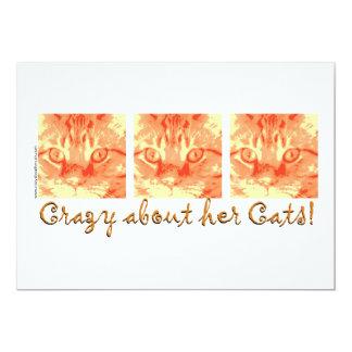 オレンジ虎猫猫のユーモア カード
